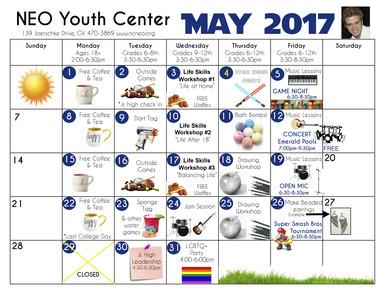 NEO May Calendar 2017