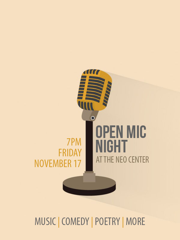 Open Mic Flyer 2017 - Nov.