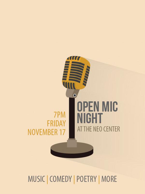 Open Mic Flyer 2017 - Nov.